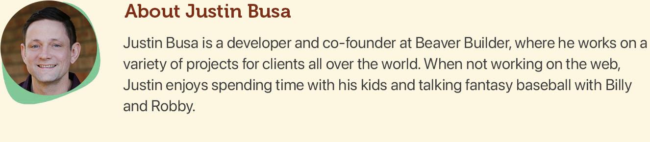 Justin Busa's Bio