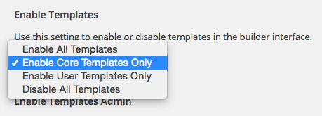 Disable User Templates