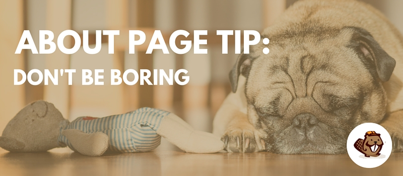 About Page Tip 1