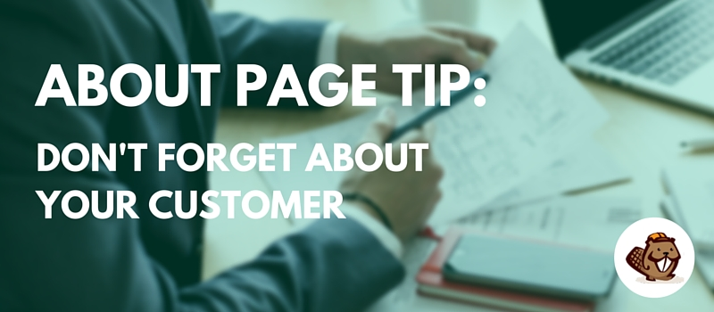 About Page Tip 3