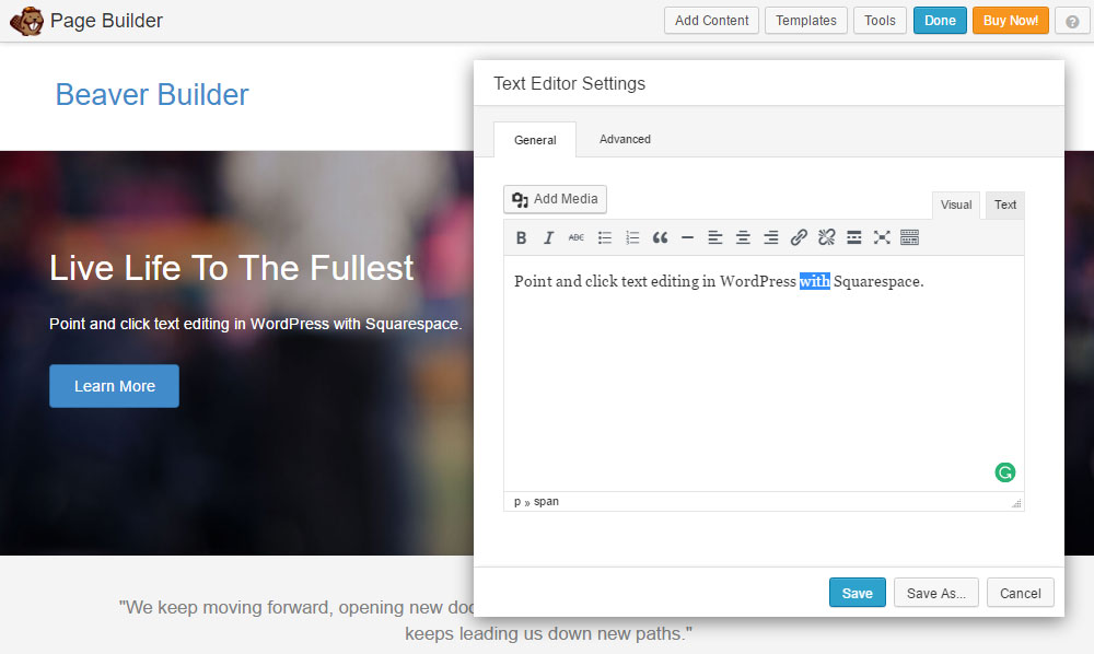 WordPress vs Squarespace Beaver Builder | Beaver Builder