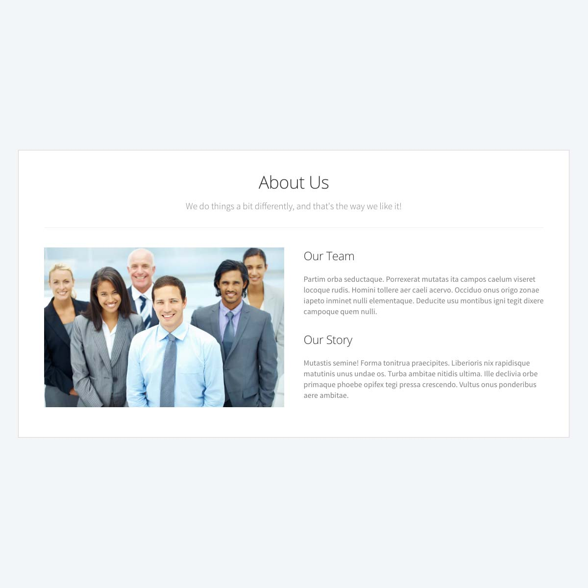 About Us Page Template | Content Page Templates Beaver Builder