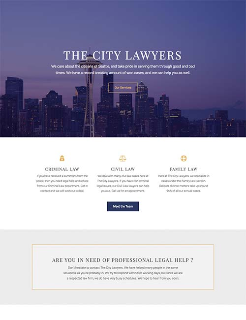 city-lawyers-template