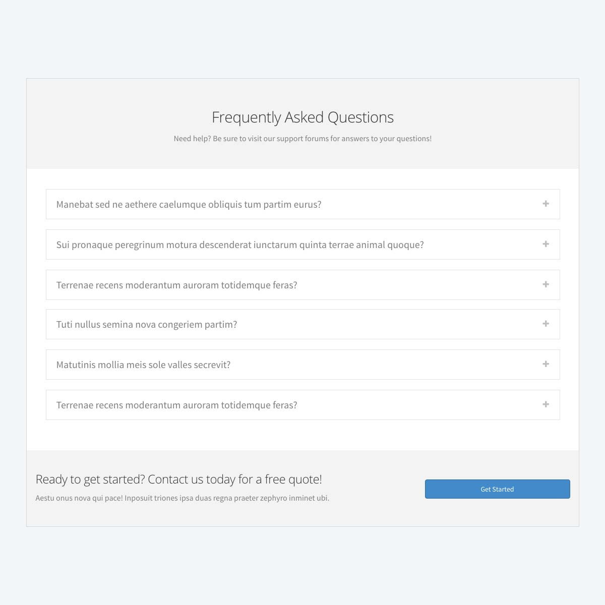 Frequently asked questions template beaver builder frequently asked questions template maxwellsz