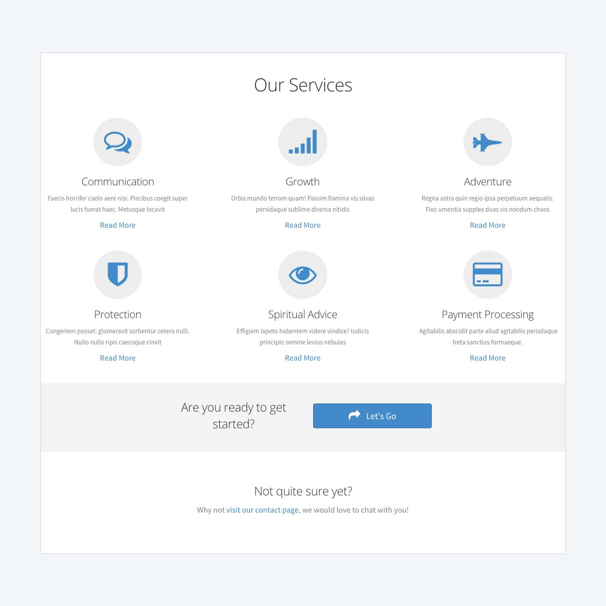 services template beaver builder