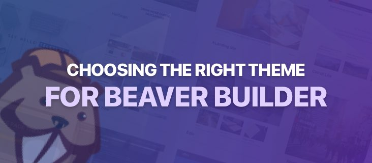 choosing the right theme for Beaver Builder