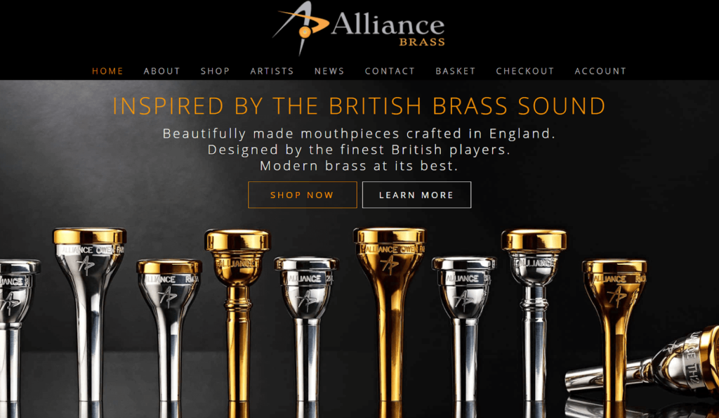alliance-brass-website-example