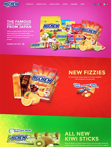 Hi-Chew website screenshot