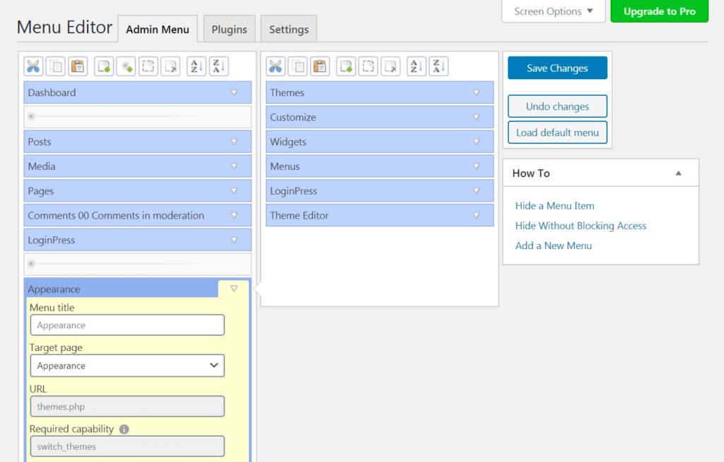 menu-editor-plugin