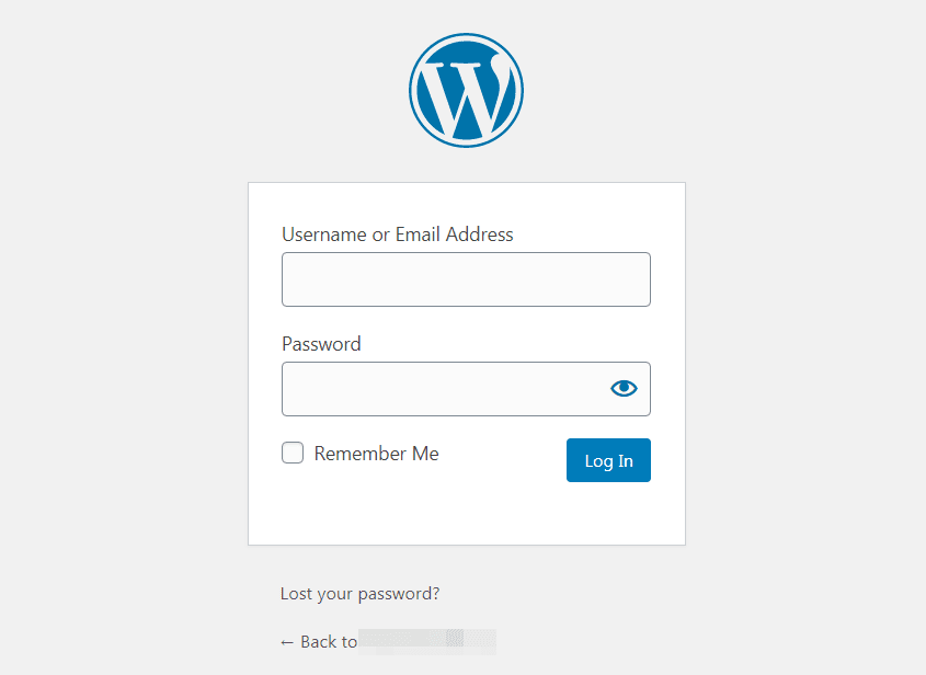 wordpress-login-area