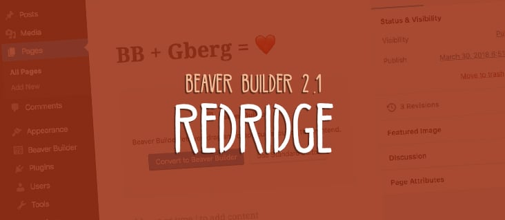 Beaver Builder 2.1 Redridge