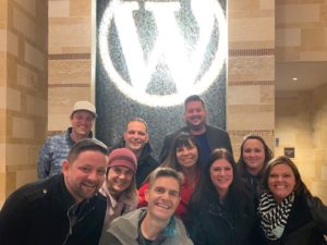 Beaver Builder team with friends at WordCamp US