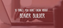 10 Things You Might Not Know About Beaver Builder
