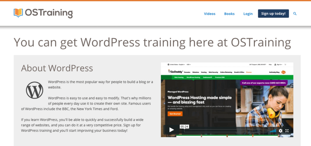 OSTraining WordPress Courses