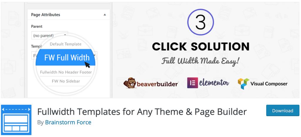 Fullwidth Templates plugin page.