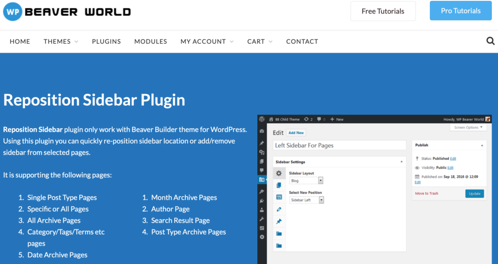 Reposition Sidebar Plugin