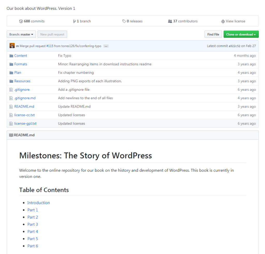 Milestones: The Story of WordPress.