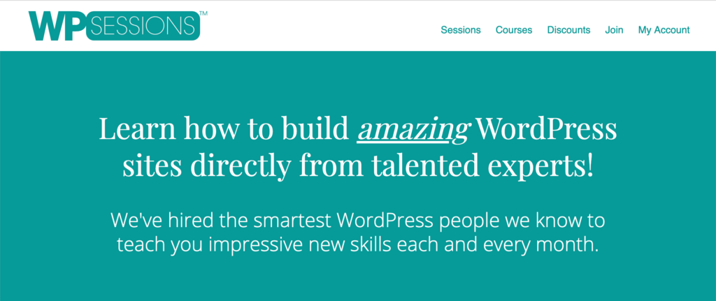 WPSessions WordPress Courses