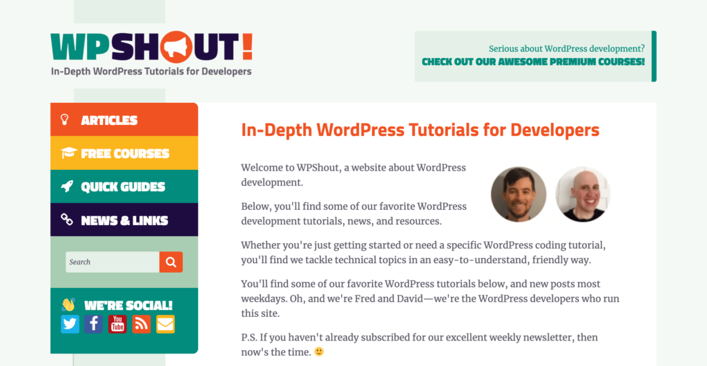 WPShout WordPress Tutorials