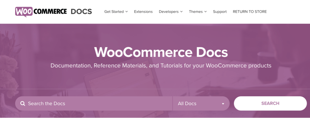 WooCommerce Docs Support website