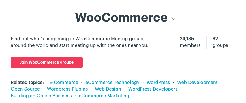 WooCommerce meetup groups
