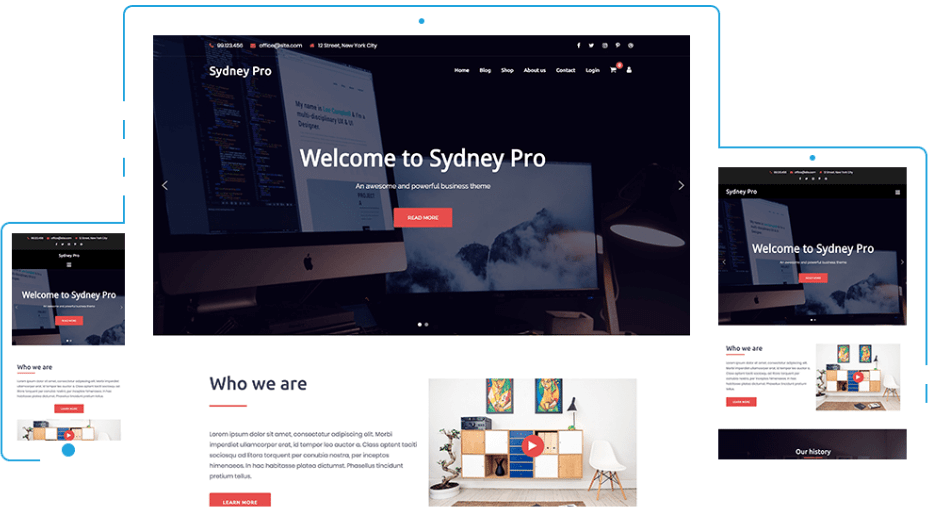 The Sydney Pro theme.