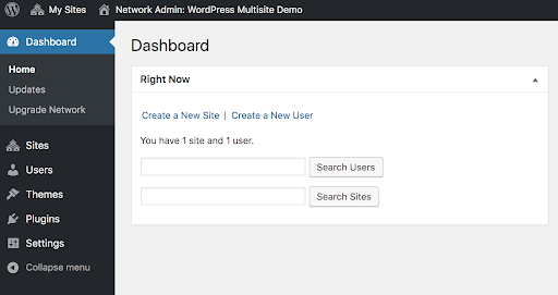 WordPress Dashboard Screen