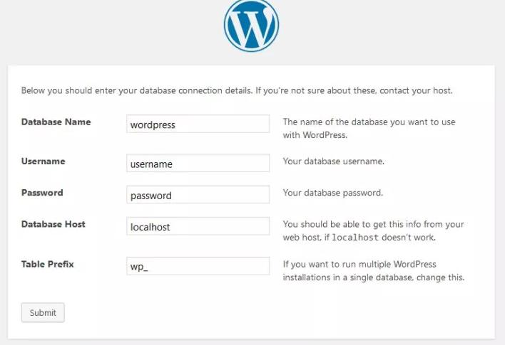 The WordPress installer.