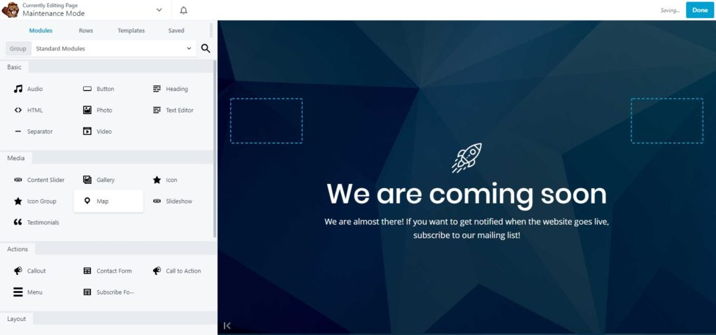 We are Coming Soon page