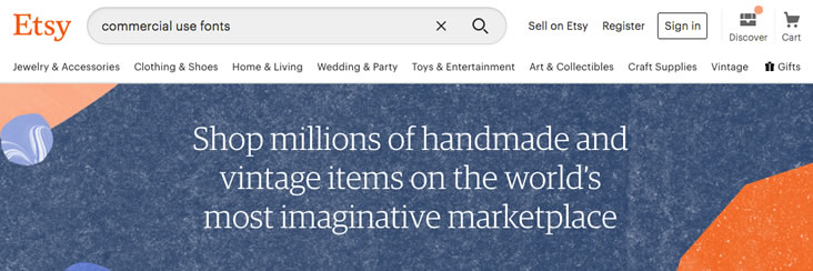 Etsy offers craft-inspired fonts for the web.