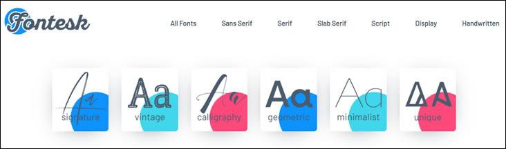 Fontesk offers commercial fonts for your website