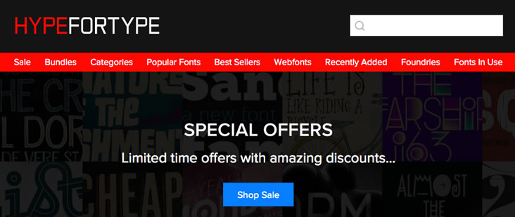 Interesting commercial use fonts at Hype for Type