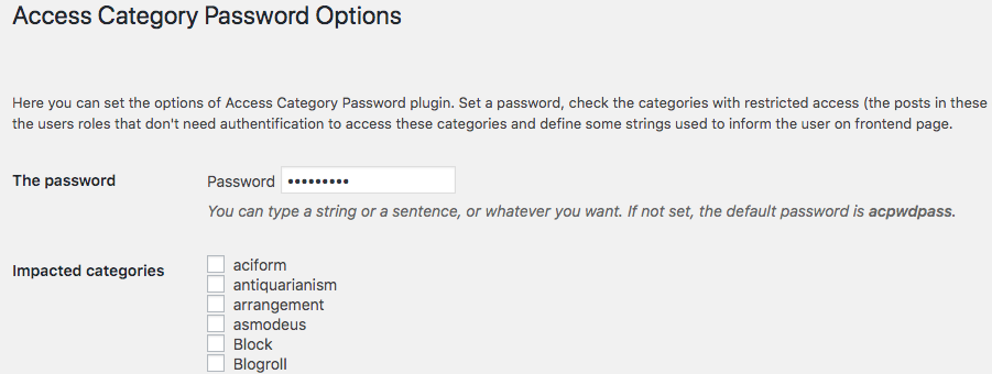 access-category-setting