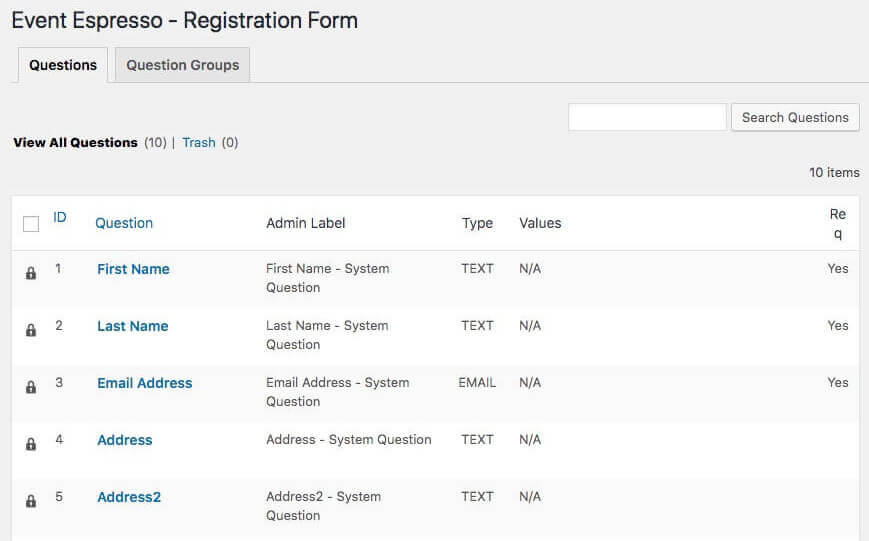 Customizing the registration form.