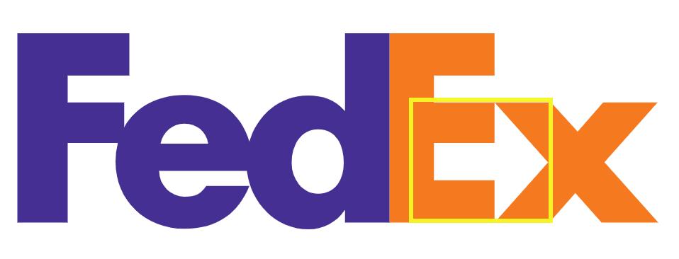 The FedEx logo.