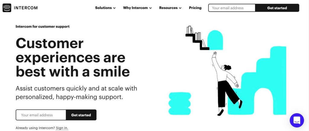 The Intercom website.