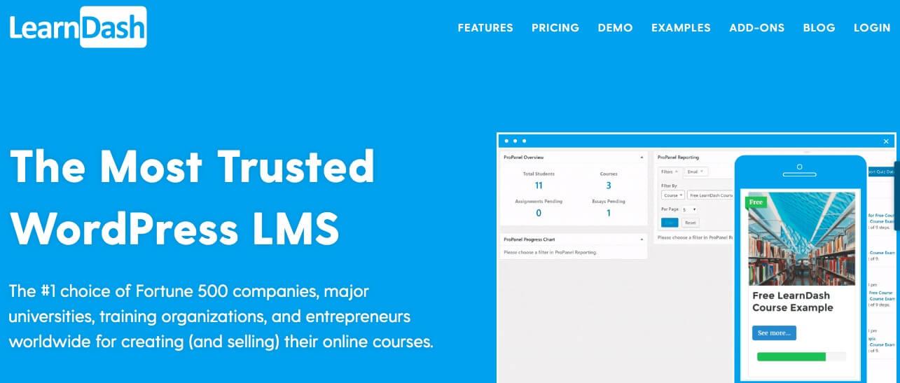 The LearnDash website.