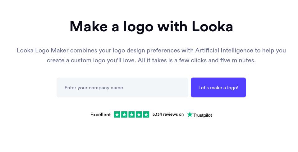 The Looka website.