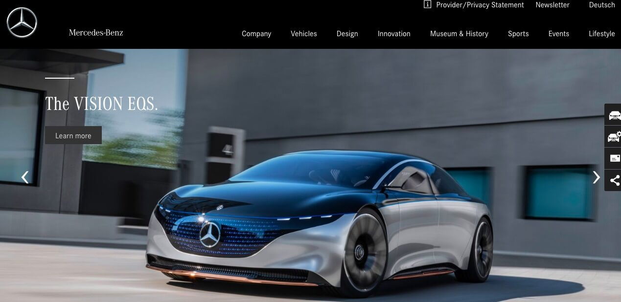 The Mercedes-Benz website.