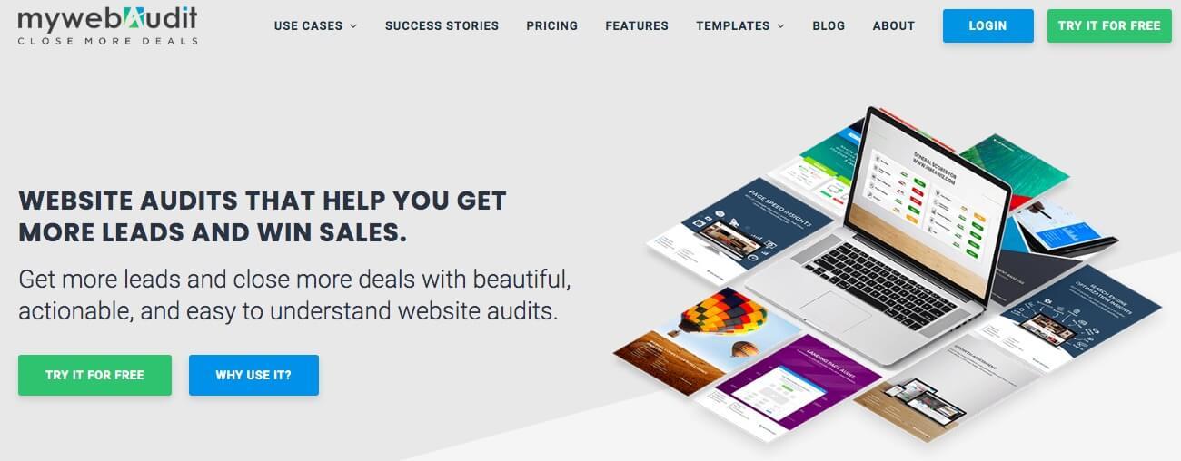 The MyWebAudit website.