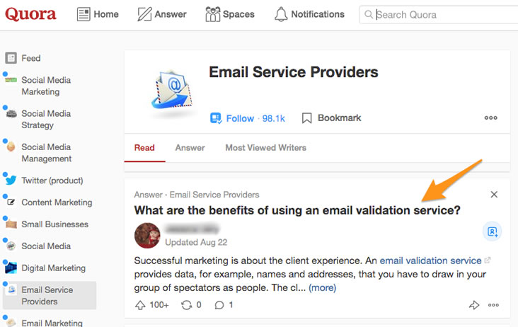 Use Quora.com to research frequently asked questions