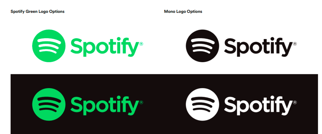 Various Spotify logos.