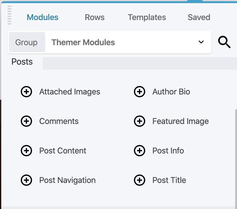 Themer Modules