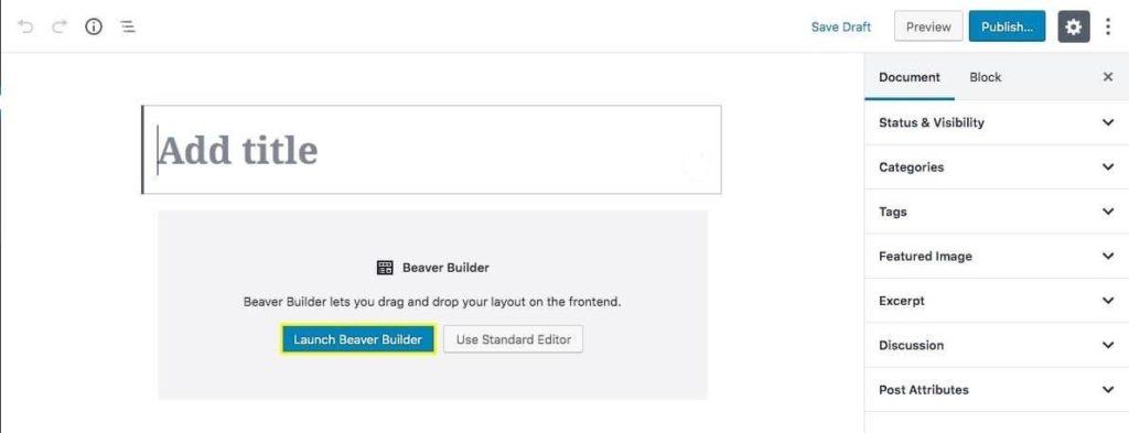 Beaver Builder Post Editing