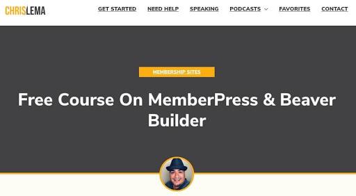 Chris Lema's free Beaver Builder course