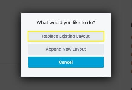 Replace Existing Layout
