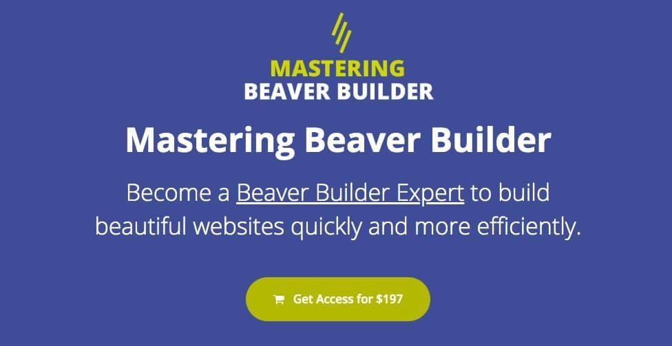 Smart Web School's Mastering Beaver builder course