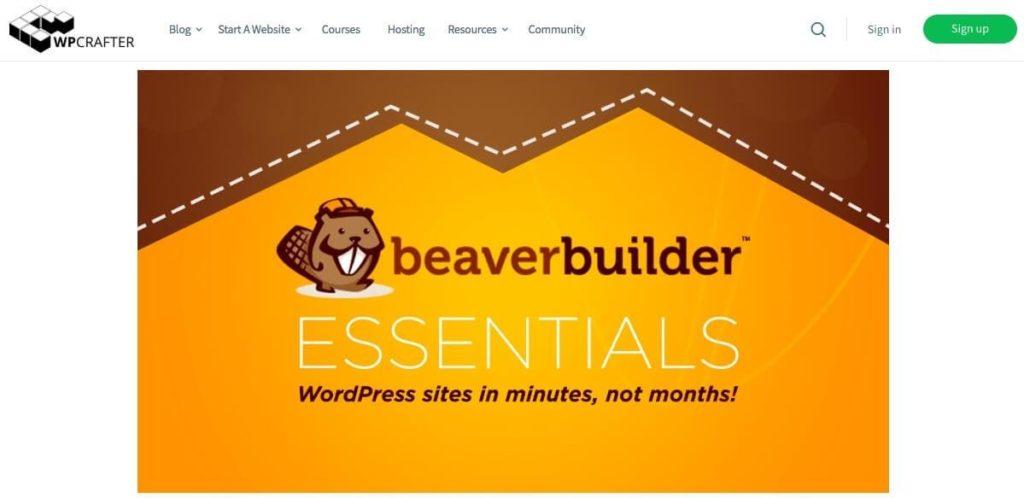 WPCrafter's Beaver Builder Essentials course