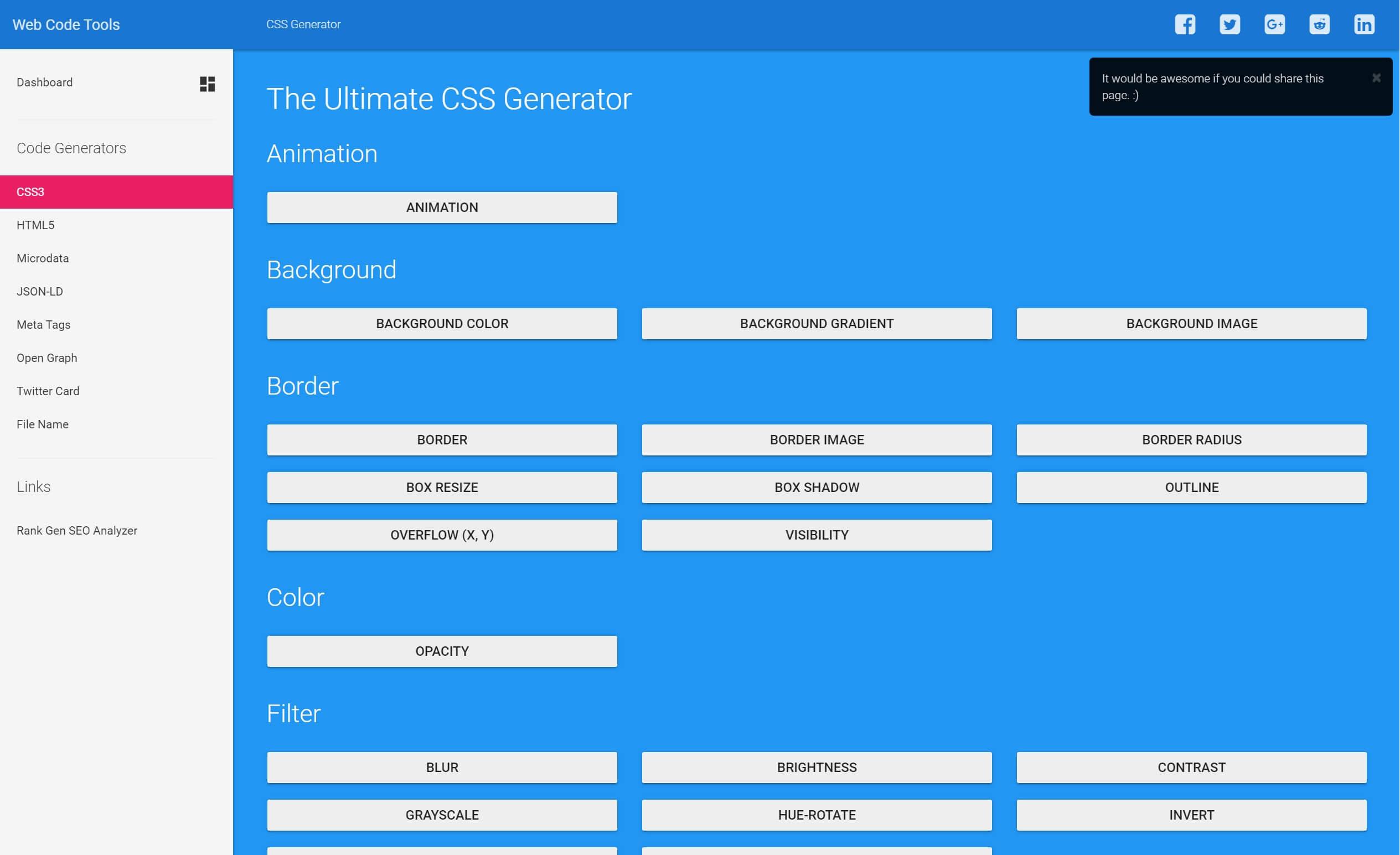 Ultimate CSS Generator.