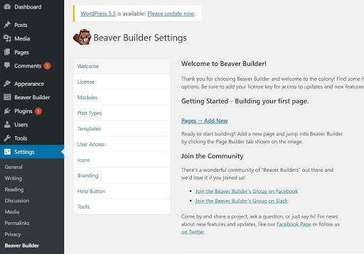 Beaver Builder Settings